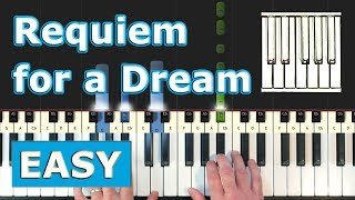 Lux Aeterna (Requiem For A Dream) - Piano Tutorial EASY - Sheet Music (Synthesia)