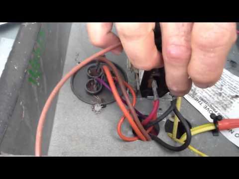 lennox capacitor hookup
