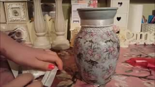 Mothers Day idea ? Altered Poundland Decoupage Vase