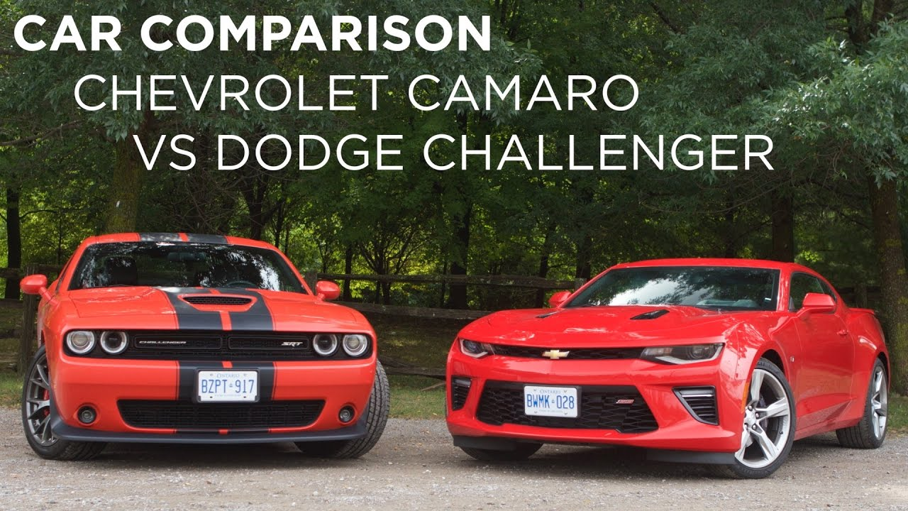 Car Comparison Chevrolet Camaro Vs Dodge Challenger Driving Ca