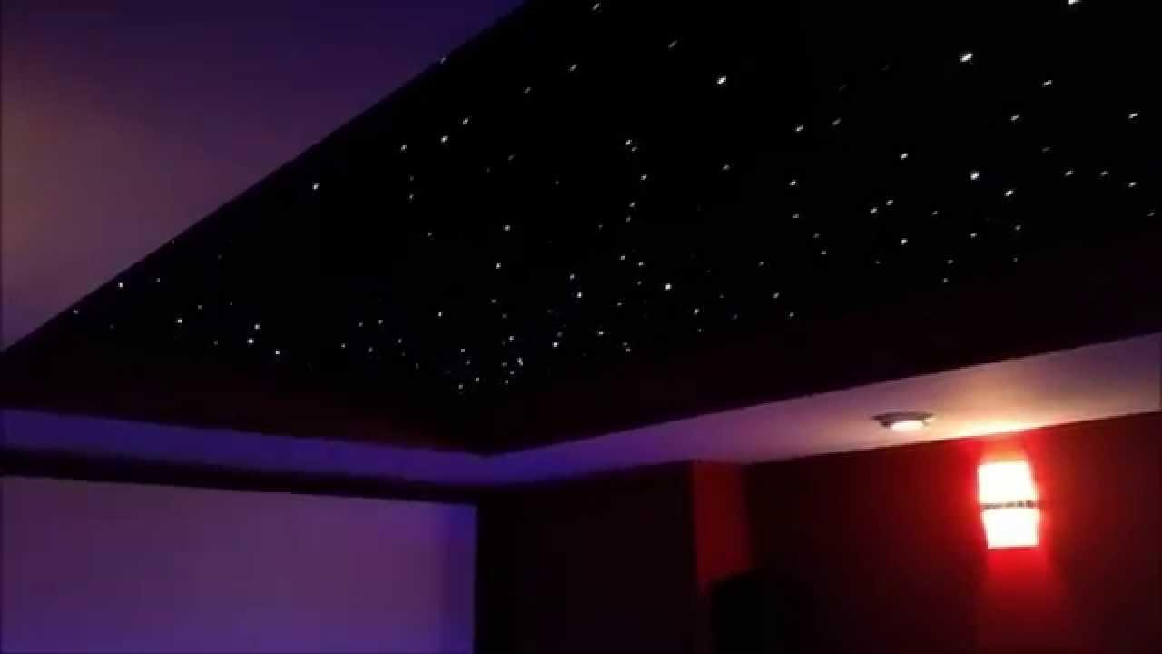 Fiber Optic Panel Star Ceiling - Home Theater - YouTube