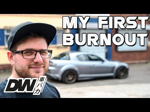 My first ever burnout - Ep11 - Driftworks TV - Mazda RX8 LSX V8 620hp