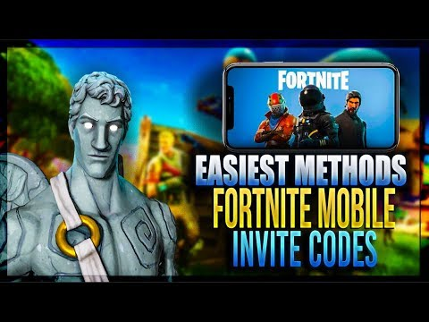 How To Get Free INVITE CODES For Fortnite Battle Royale IOS mobile! (3 Methods)