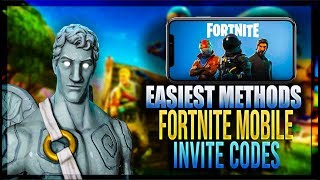 Comment obtenir des CODES INVITE gratuit pour Fortnite Battle Royale IOS mobile! (3 Méthodes)
