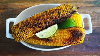 Grilled Sweet Corn With Ancho Chili Lime Butter