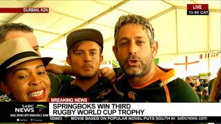 RWC Final I Jubilation as South Africa wins 2019 Rugby World Cup
