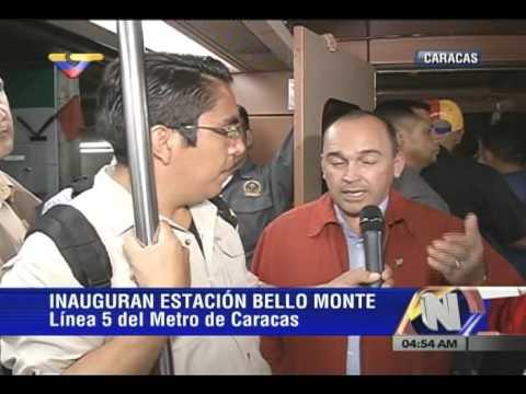 Presidente Maduro inaugura estación del Metro de Bello Monte (completo)