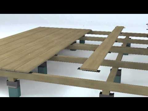 fixation invisible pour terrasse le clip juan doovi. Black Bedroom Furniture Sets. Home Design Ideas