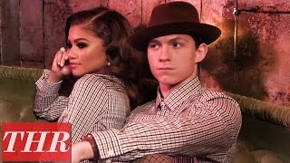 39Spider-Man Homecoming39 Stars Zendaya amp Tom Holland on Their First Meeting  THR Cover Shoot