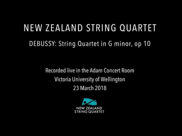 Debussy - Quartet in G minor (complete live performance)