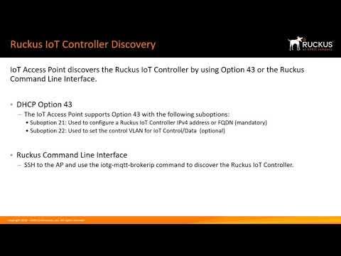 RUCKUS IOT CONTROLLER – ADDING AP TO VRIOT SERVER - YouTube