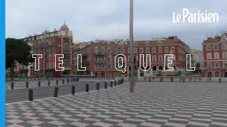 Covid-19 : rues désertes à Nice, reconfiné le week-end