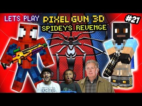 Pixel Gun 3D: Spiderman Avenges Uncle Ben? Dad vs. Son Deathmatch! (Part 21 Face Cam)