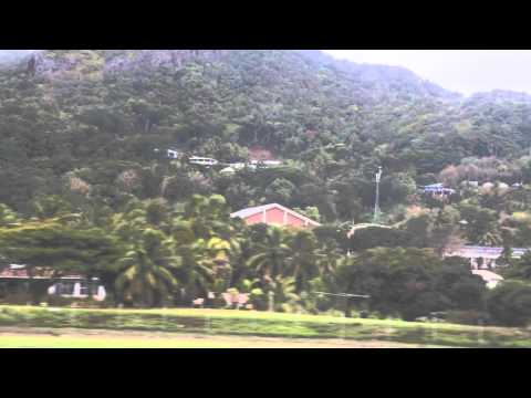 Iles Cook Décollage de Avarua Air Rarotonga / Cook islands Rarotonga Take off Avarua