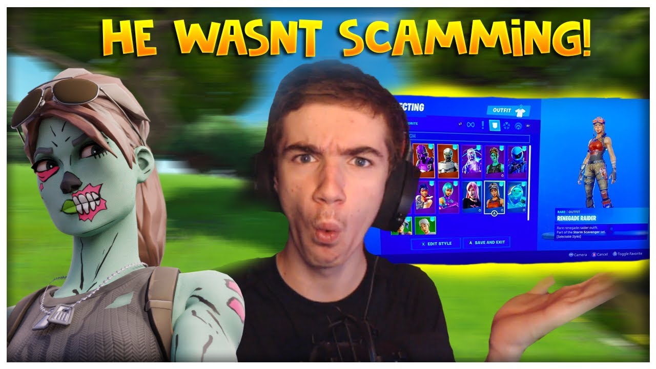 I Exposed Free Fortnite Account Scammers In My Discord Server He Didnt Scam Youtube