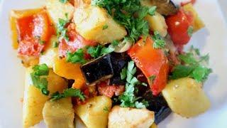 Жгучие запеченные овощи