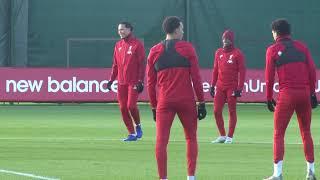 Virgil Van Dijk ALL SMILES In Liverpool Training Ahead Of Salzburg In Champions League