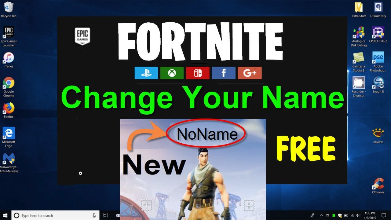 How to CHANGE your Name in ForTnite PC xbox PS4 (Fortnite NAME Change) Free  2019 - Beginners