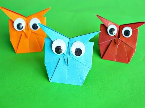 Оригами Сова из бумаги. Origami Búho de papel.DIY Paper Owl -Easy tutorial