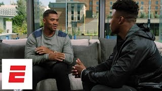 Saquon Barkley and Russell Wilson have honest conversation about their childhoods | QB2RB | ESPN