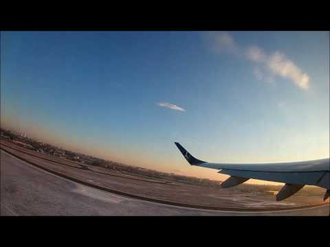 LOT Polish Airlines Sunny Take-off Embraer E190 Warsaw - Amsterdam GREAT SOUND!