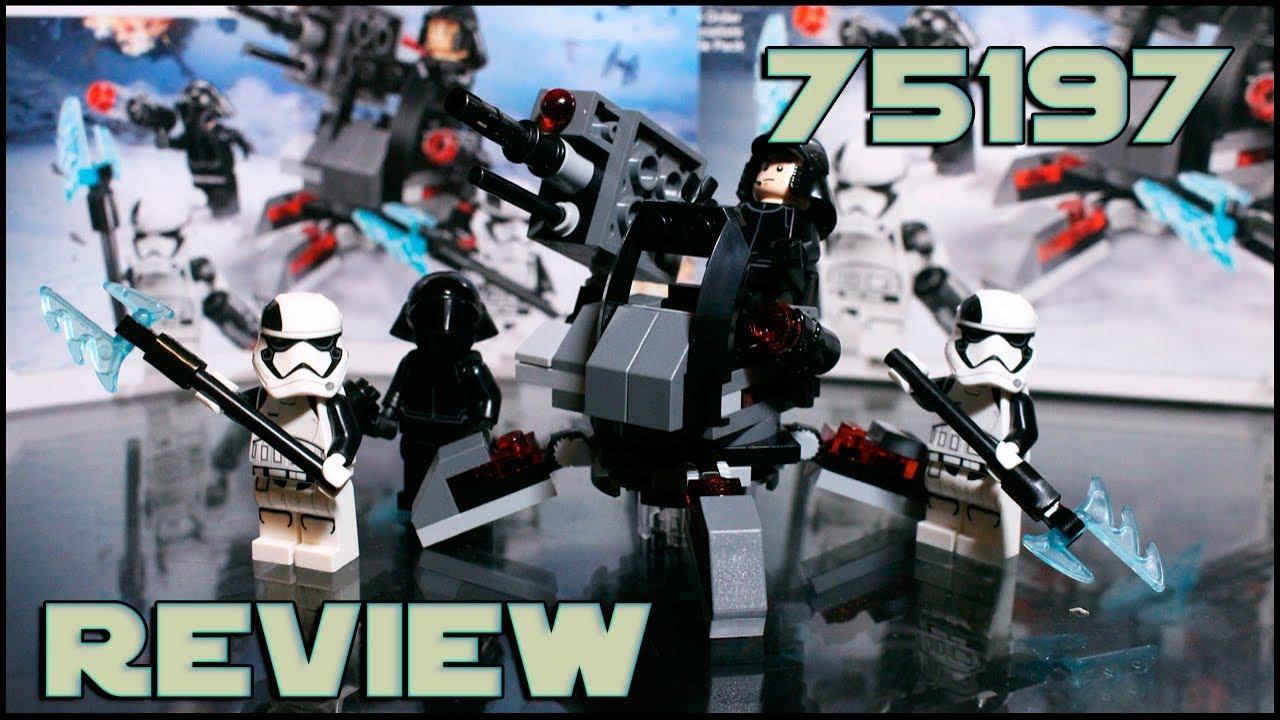 Lego <b>Star Wars</b> 75197 <b>First Order</b> Specialists Battle Pack Review ...
