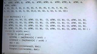 My first Arduino script - brutal duty-cycle 2-note polyphony, classic ZX Spectrum-style