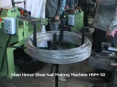 Manek Horse Shoe Nail Making Machine Youtube