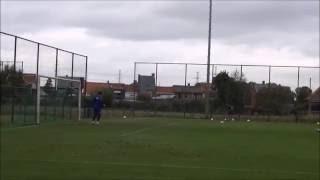 """Nathan op keepertraining bij """"A"""" team Waasland-Beveren (29 sept.2016)"""