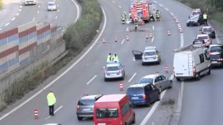 Alarmfahrten Polizei zu einem Verkehrsunfall + Unfallstelle
