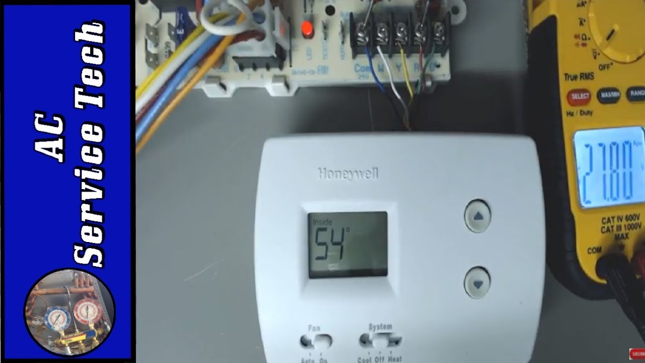 How to Test a Thermostat with a Multimeter! - YouTube | Hvac Test Wiring |  | YouTube
