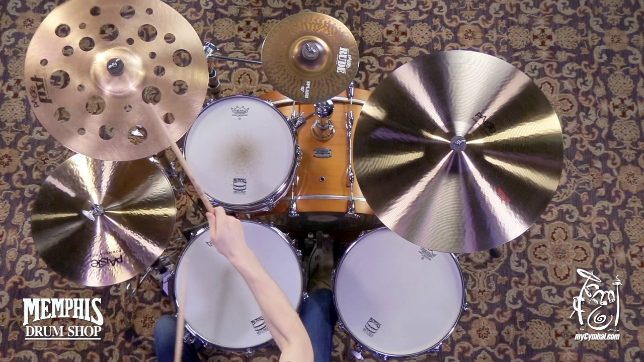 Video Demo Paiste PSTX Swiss Medium Crash Cymbal 18/""