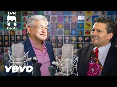 Enrique Peña Nieto ft Andres Manuel cantan La Frontera de Juan Gabriel y Julion Alvarez