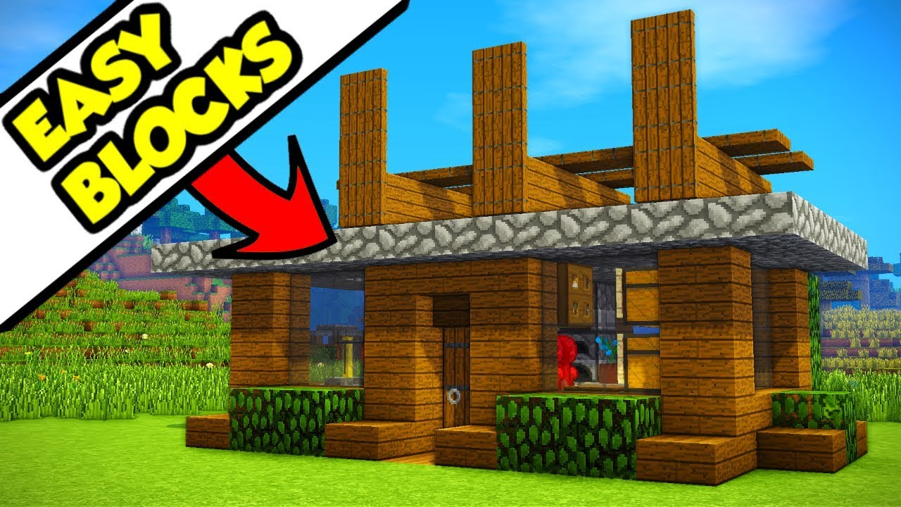 Minecraft Easy Materials Modern House Tutorial Survival How To Build Youtube