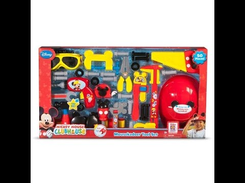 mousekadoer tool set set by mickey mouse clubhouse -