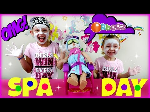 ORBEEZ SPA - My Life as Hair Stylist Doll with Spa Chair Playset * Dino Fizz Surprise Egg