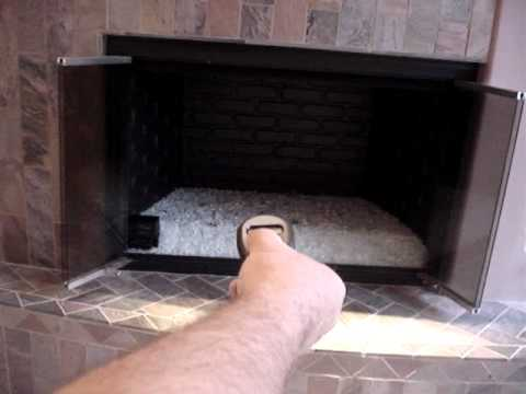 Remote Control Fireplace Ignition Featuring Fire Crystals - YouTube