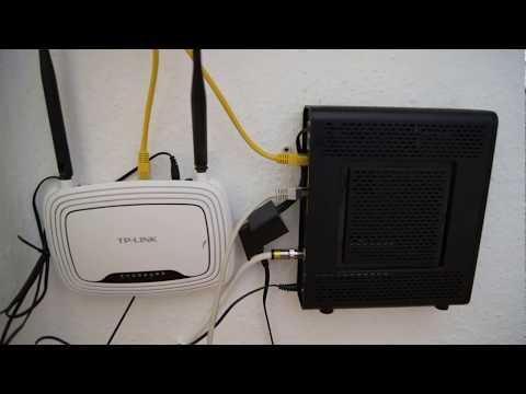 TP-Link Wlan Router hinter Kabel Deutschland Router schalten