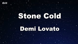 Stone Cold - Demi Lovato Karaoke 【No Guide Melody】 Instrumental