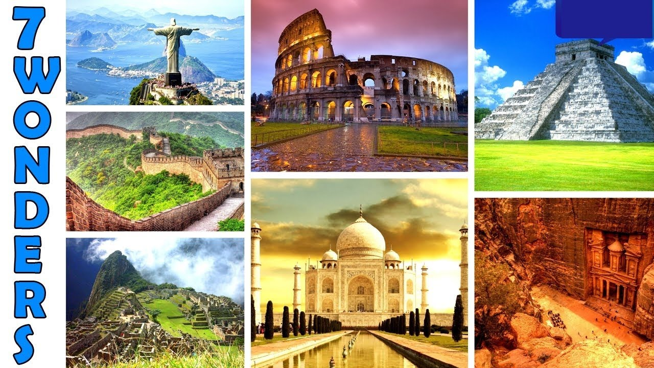 the seven wonders of the world - 900×900