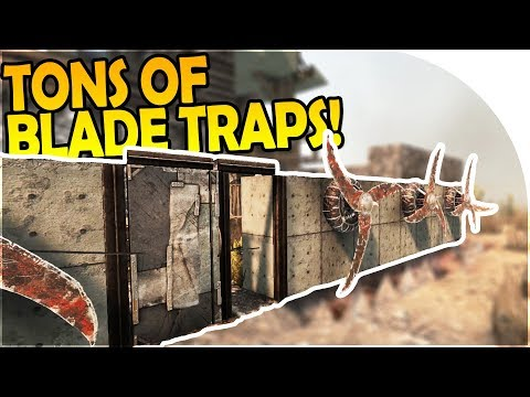 TONS OF BLADE TRAPS - BUILDING UP our BASE DEFENSES! - 7 Day