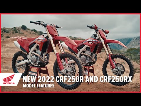 New 2022 CRF250R and CRF250RX: Model Features