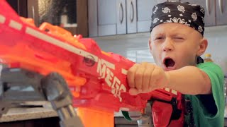 NERF WAR: DAD vs SON! thumbnail