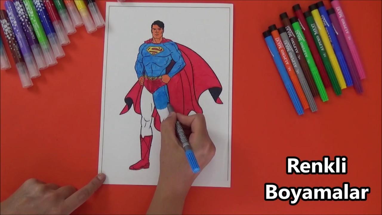 Superman Boyama Sayfasi Youtube