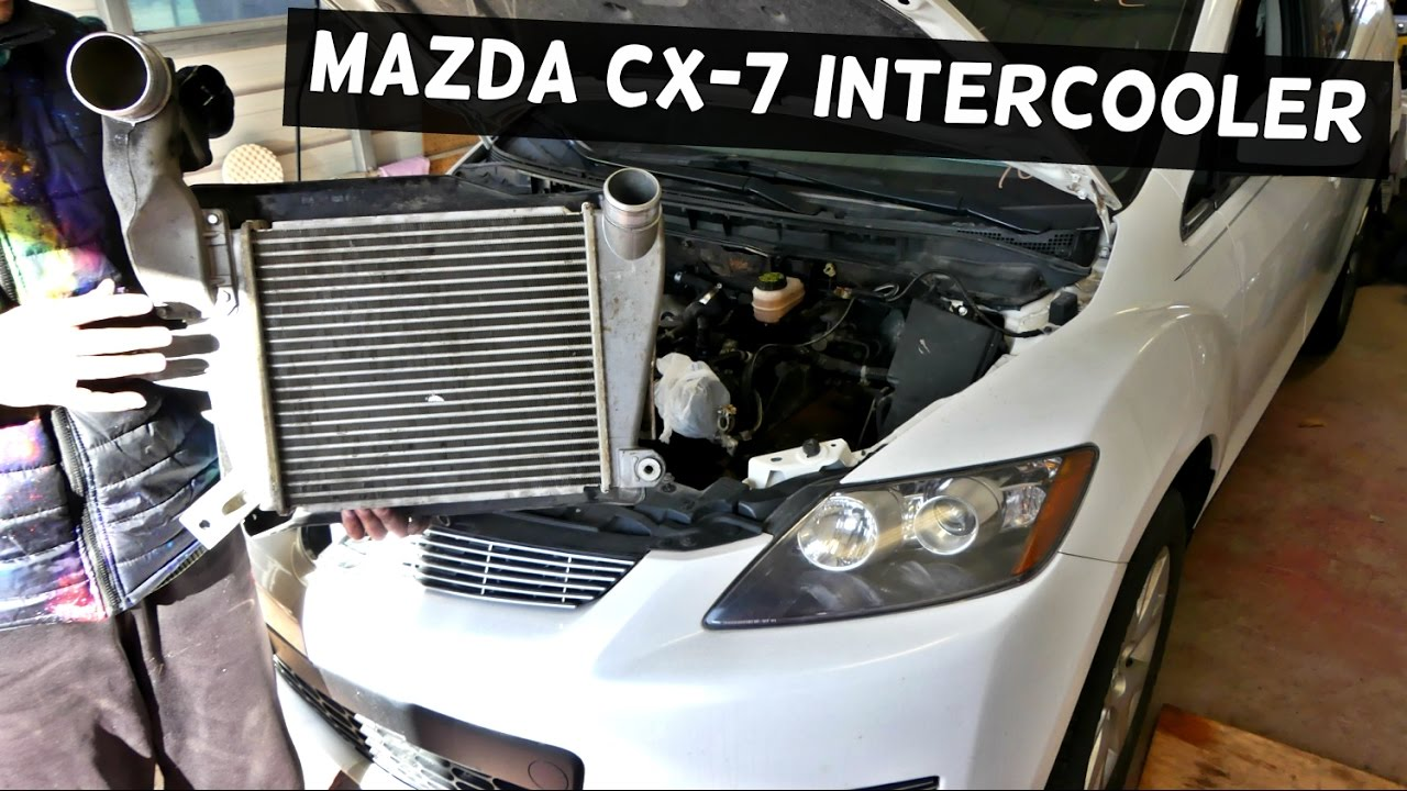 MAZDA CX-7 CX7 INTERCOOLER INTER COOLER REMOVAL ...