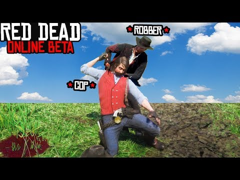 COPS AND ROBBERS GAMEMODE in Red Dead Online! Custom Red Dead Redemption 2 Job! thumbnail