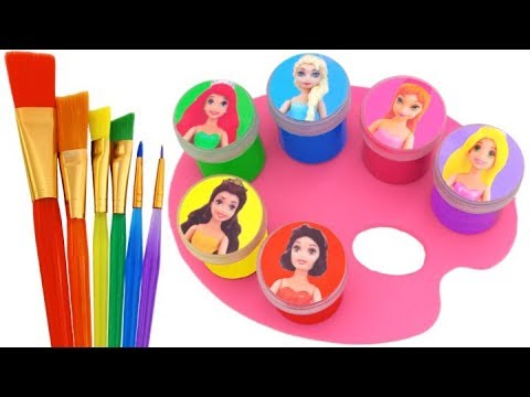 Thumbnail: Learn Colors Play Doh Sparkle Disney Princess Dresses Peppa Pig Paw Patrol