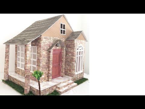 DIY Cardboard Barbie Dollhouse with Lights