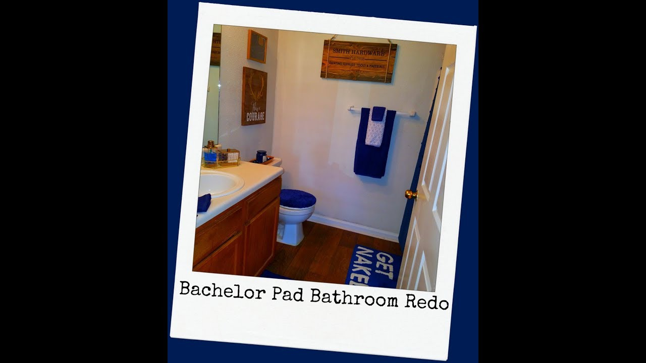 BACHELOR PAD BATHROOM DECOR REDO