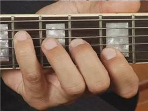 Play Bb Dim Chord on the Middle Top Guitar Strings: Root Position ...